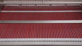 Steel die Machine verwijderen stock footage