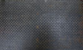 Steel dirty and used checker plate metal sheet. Can be use as background or texture. stock photos