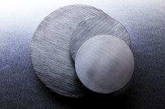 Steel Disks Royalty Free Stock Images