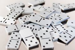 Steel dominoes Stock Photos