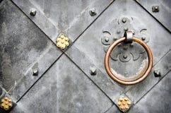Steel door handle Stock Photography