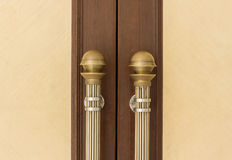 Steel Door handles Royalty Free Stock Image