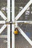 Steel door with lock Stock Photography