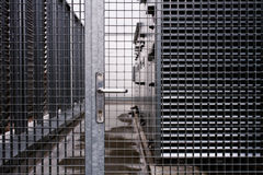 Steel door Stock Photo