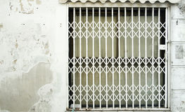 Steel door used to open and close the house Royalty Free Stock Images