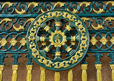 Steel doors Decorative Lanna Stock Photos