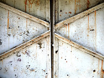 Steel Doors Triangle Patterns Stock Photo