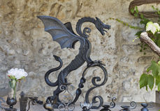 Steel dragon in Bled Castle, Slovenia. Stock Photography