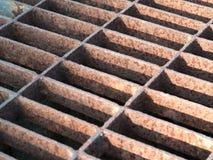 Steel drain grate Royalty Free Stock Photo