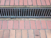 Steel drain grate. Stock Photography