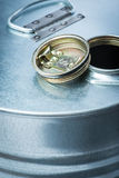 Steel drum for dangerous chemicals Royalty Free Stock Photos