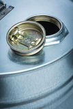 Steel drum for dangerous chemicals Stock Image