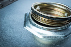 Steel drum for dangerous chemicals Stock Images
