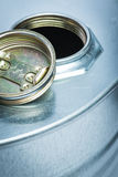 Steel drum for dangerous chemicals Royalty Free Stock Image