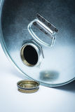 Steel drum for dangerous chemicals Royalty Free Stock Images