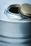 Steel drum for dangerous chemicals Royalty Free Stock Photo