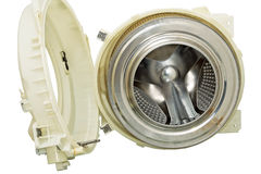 Steel drum of a washing machine. Royalty Free Stock Photography