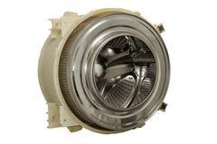 Steel drum of a washing machine. Stock Photo