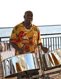 Steel Drummer. A caribbean musician playing steel drums Stock Image