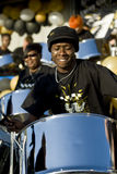 Steel drummer from  Real Steel Steelband Royalty Free Stock Photography