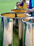 Steel Drums. A Teenage band play at a Local Fete royalty free stock image