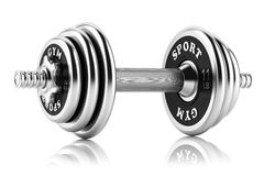 Steel dumbbell . 3D Stock Images