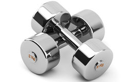 Steel Dumbbells Stock Images