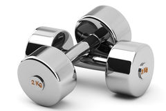 Steel Dumbbells Royalty Free Stock Photo