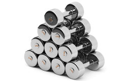 Steel Dumbbells Royalty Free Stock Photography