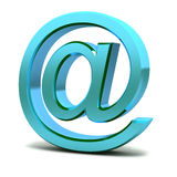 Steel e-mail internet  icon Stock Photo