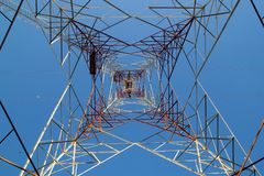 Steel Electrical Tower Construction. stock image