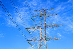 Steel Electrical Transmission Tower Royalty Free Stock Image