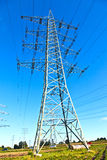 Steel electricity pylon Stock Photography