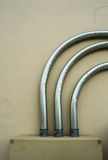 Steel electronic pipe Stock Images
