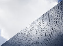 Steel facade design Modern architecture details. Abstract Background royalty free stock images