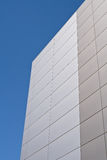 Steel facade on modern building Stock Photo