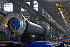 Steel factory. With its product - shaft for energetic industry Royalty Free Stock Images