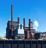 Steel factory. Industrial steel factory plant building royalty free stock photography