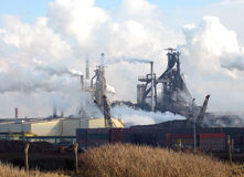 Steel factory Royalty Free Stock Image