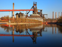 Steel  Factory In China. Due to pollution, China's largest steel  factory was abandoned Royalty Free Stock Images