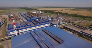 Steel factory stock footage