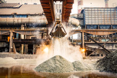 Steel factory industry Royalty Free Stock Photos