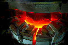 Steel factory.The melting furnace.Industrial equipment. Royalty Free Stock Image