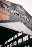 Steel Factory roof royalty free stock images