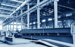 Steel factory stacked steel Royalty Free Stock Image