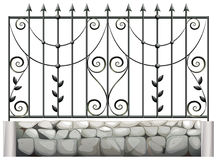 A steel fence Royalty Free Stock Photo