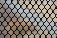 Steel fence. Security fence to protect from trespassing stock photos