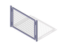 Steel Fence Section Vector In Isometric Projection Royalty Free Stock Photo