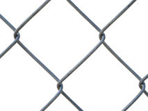A steel fence - texture. An isolated part of the grid on a white background Stock Images