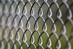 Steel Fence up-close Stock Photos